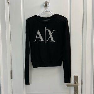 Armani Exchange black knit sweater size xs